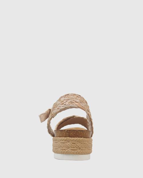Daine Natural Weave Flatform Sandal.