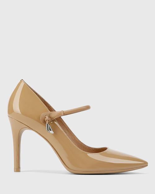Hanner Taupe Patent &  Leather Stiletto Heel . & Wittner & Wittner Shoes