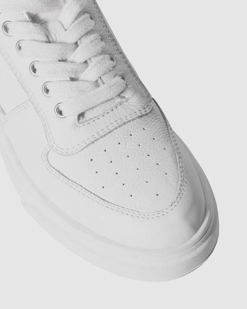 Filmore White Leopard Print Lace Up Sneaker