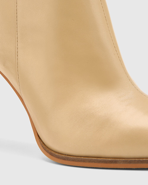 Harlo Clay / Dandelion Leather Pointed Toe Ankle Boot. & Wittner & Wittner Shoes