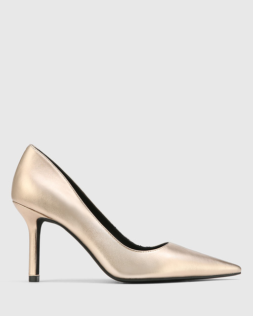 Quendra Tuscan Gold Leather Pointed Toe Pump. & Wittner & Wittner Shoes
