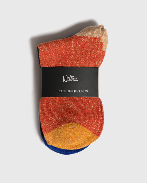 Cotton Qtr Crew Sock