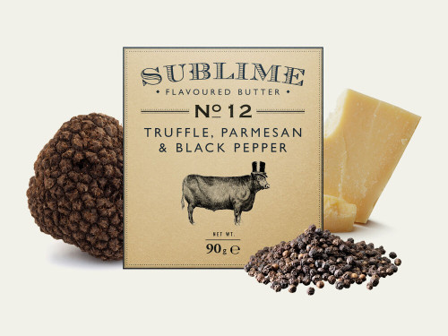 Sublime Truffle, Parmesan & Black Pepper Butter 90g