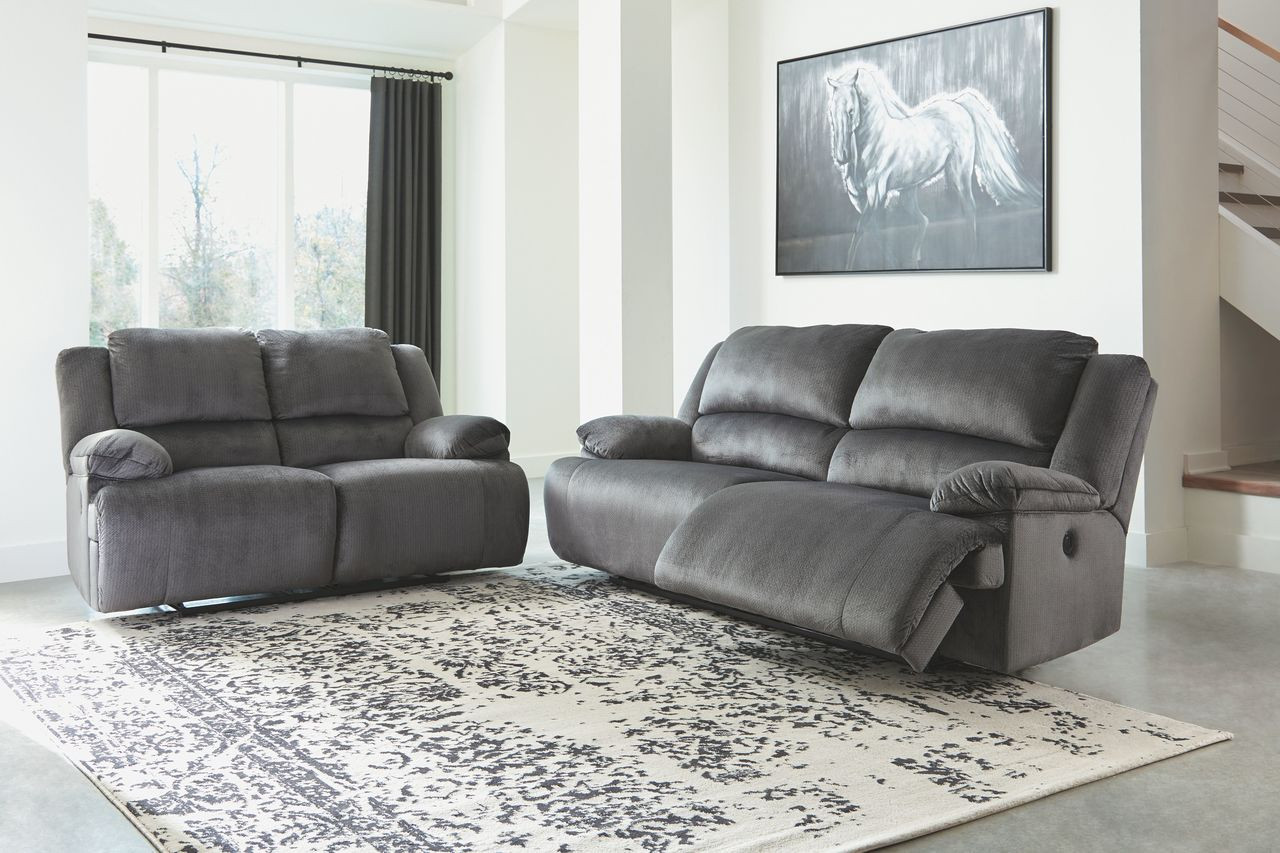 Astounding The Clonmel Charcoal 2 Seat Reclining Sofa Reclining Gmtry Best Dining Table And Chair Ideas Images Gmtryco