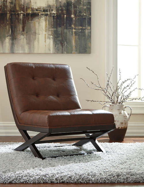 Sidewinder Brown Accent Chair