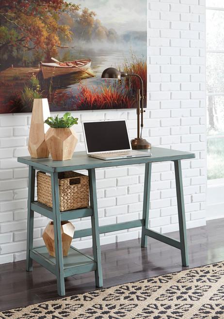 Mirimyn Teal Home Office Small Desk