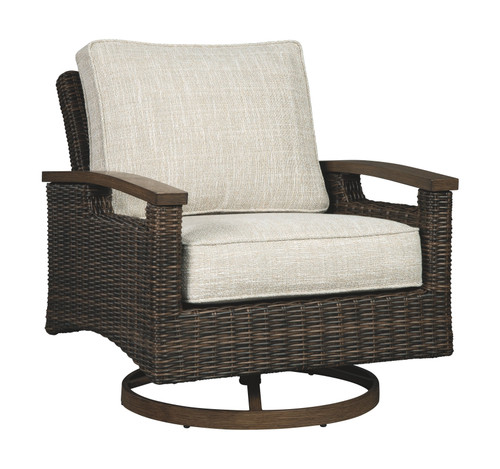 Paradise Trail Medium Brown Swivel Lounge Chair (2/CN)