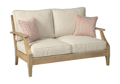 Clare View Beige Loveseat w/Cushion