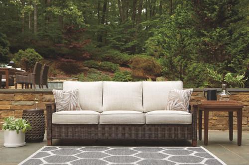 Paradise Trail Medium Brown Sofa with Cushion