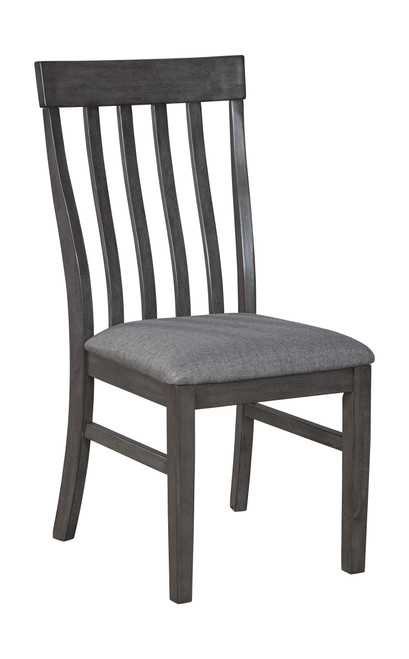 Luvoni Dark Charcoal Gray Dining Upholstered Side Chair (2/CN)