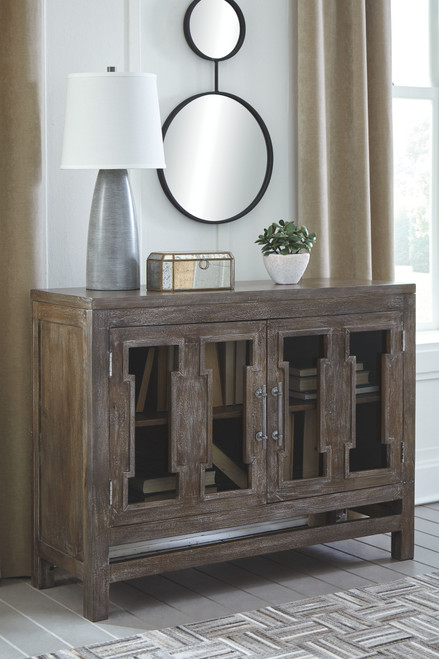 Hanimont Brown Accent Cabinet