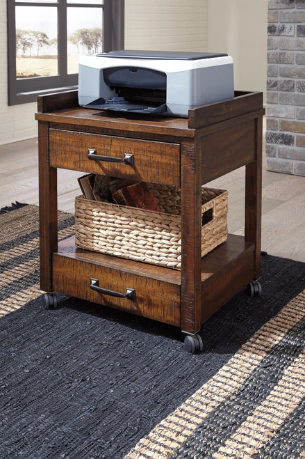 Baldridge Rustic Brown Printer Stand
