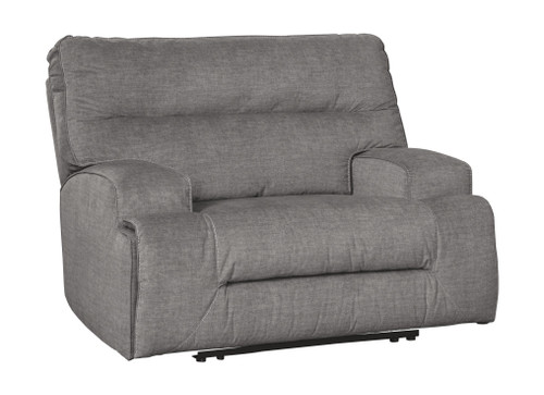 Coombs Charcoal Wide Seat Power Recliner
