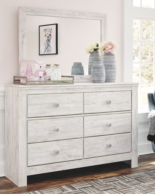 Paxberry Whitewash Dresser & Mirror