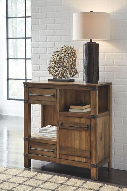 Roybeck Light Brown/Bronze Accent Cabinet