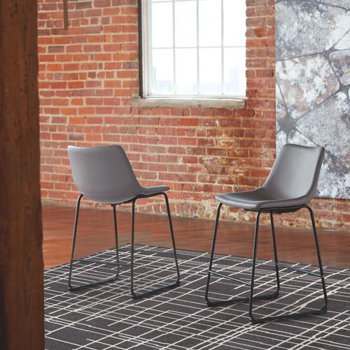 Centiar Gray Upholstered Barstool (2/CN)