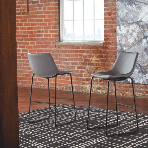 Centiar Gray Tall Upholstered Barstool (2/CN)