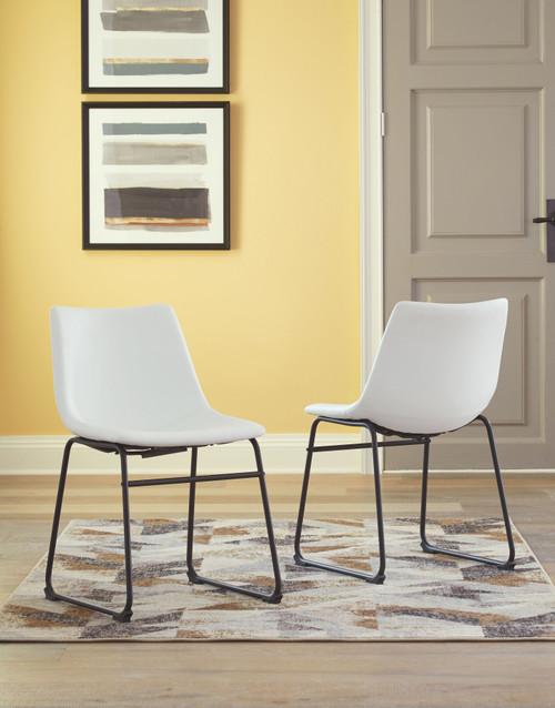 Centiar White Dining Upholstered Side Chair (2/CN)