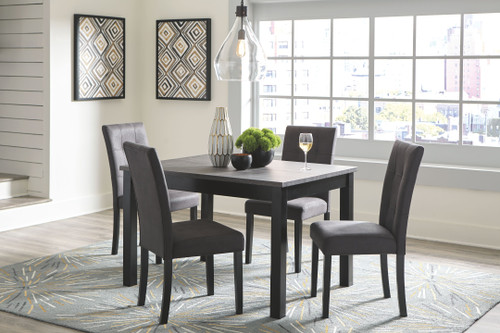 Garvine Two-tone Rectangular  Table Set (5/CN)