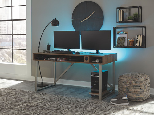 Barolli Gunmetal  Gaming Desk
