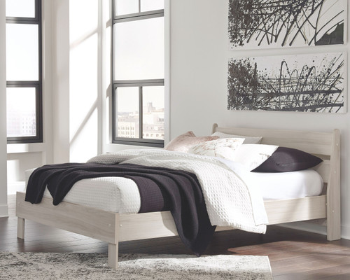 Socalle Natural 2 Pc. Queen Panel Platform Bed