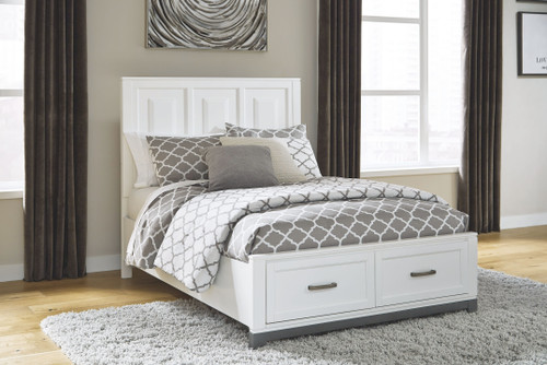Brynburg White 3 Pc. Full Panel Bed