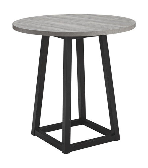 Showdell Gray/Black Round  Counter Table