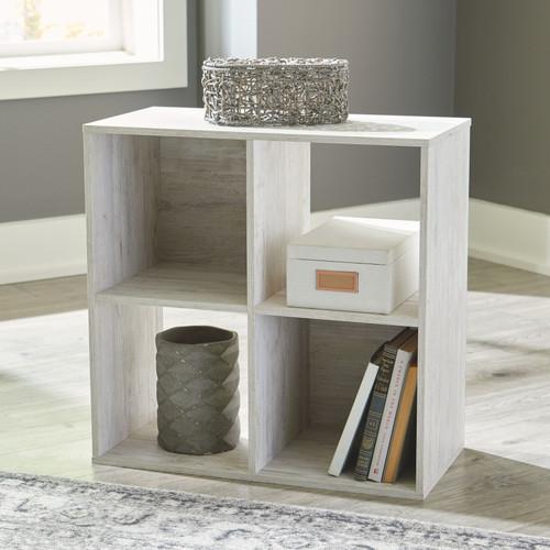 Paxberry Whitewash Four Cube Organizer