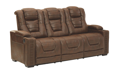 Owner's Box Thyme Power Reclining Sofa with ADJ Headrest