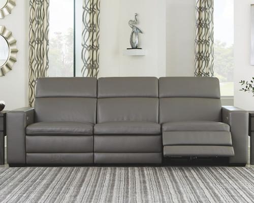 Texline Gray Power Reclining Sofa