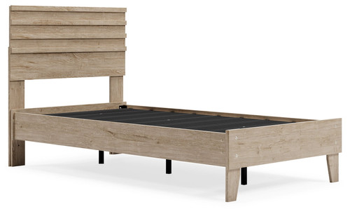 Oliah Natural Twin Panel Platform Bed