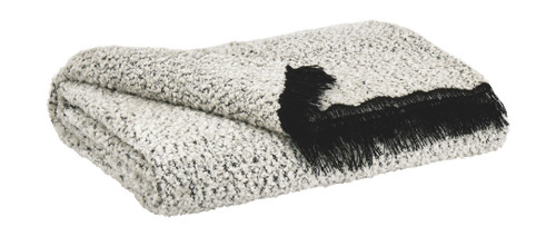Leonita Black/White Throw