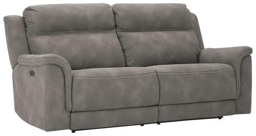 Next-Gen DuraPella Slate 2 Seat Power Reclining Sofa ADJ HDREST