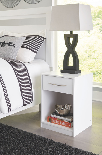 Finch White One Drawer Night Stand