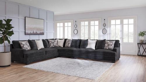 Lavernett Charcoal LAF Sofa, Armless Chair, Wedge, RAF Sofa Sectional