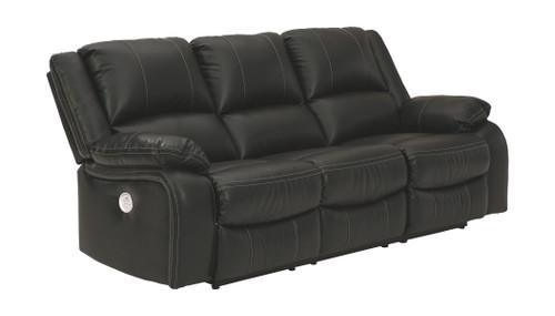 Calderwell Black Reclining Power Sofa