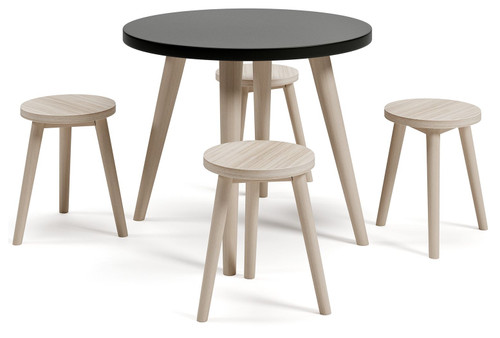 Blariden Black/Natural Table Set (5/CN)