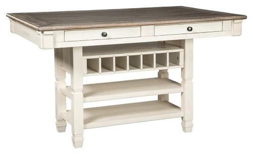 Bolanburg Brown / Beige / White Rectangular Dining Room Counter Table
