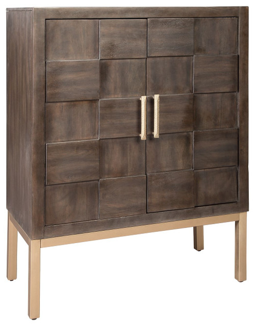 Grantleigh Brown/Gold Finish Accent Cabinet