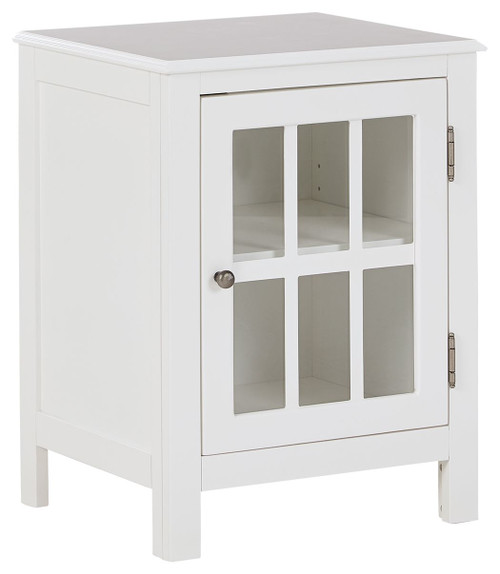 Opelton White Accent Cabinet