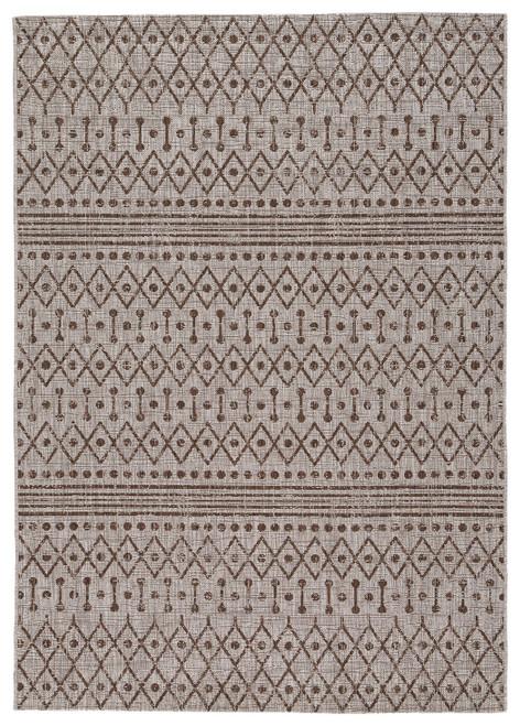 Dubot Tan/Brown/White Medium Rug