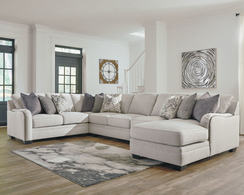 Dellara Chalk Sectional with Chaise