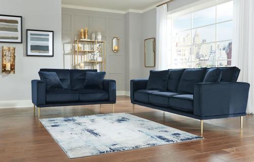 Macleary Navy 2 Pc. Sofa, Loveseat
