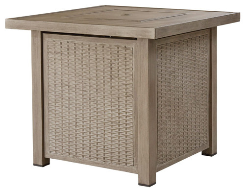 Lyle Driftwood Square Fire Pit Table