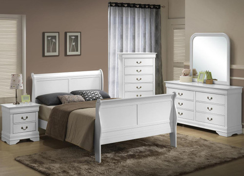 5939 Sleigh Wood Queen Bed