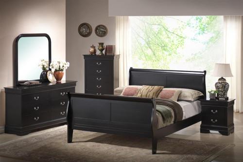 Louis Phillippe Sleigh Queen Bed