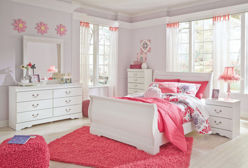 Anarasia White 7 Pc. Full Bedroom Collection