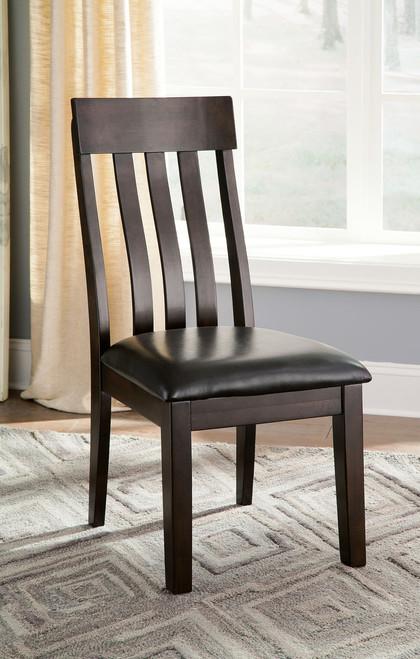 Haddigan Dark Brown Dining Upholstered Side Chair