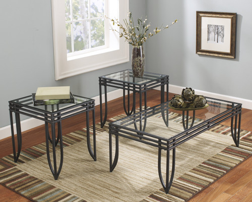 Exeter Occasional Tables (Set of 3): Black/Brown