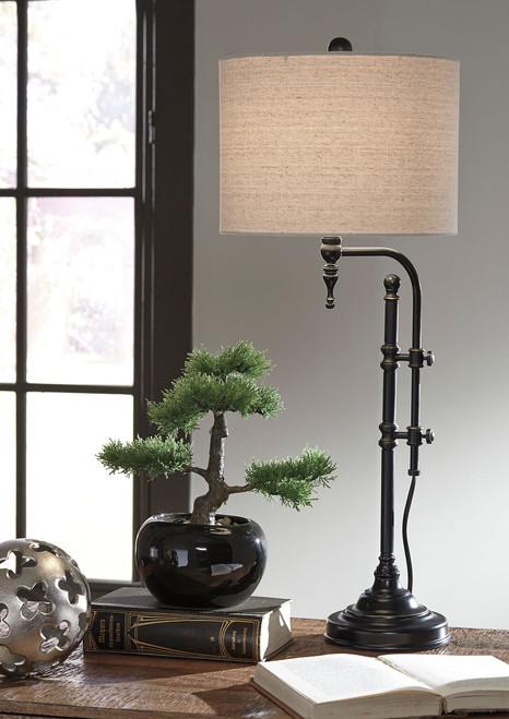 Anemoon Black Metal Table Lamp
